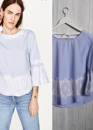 Блузка в полоску в стиле zara