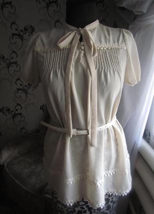 Очень нежная блуза кремовая