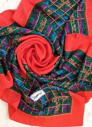 Шелковый платок yves saint laurent ysl,100 % шелк