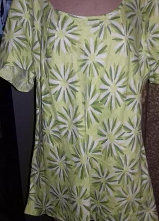 Льняная блуза сочной расцветки ann harvey