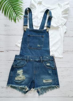 Классный джинсовый ромпер denim co р.xs
