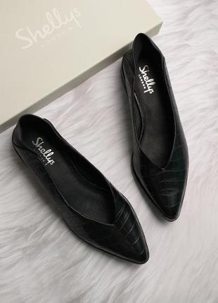 Shellys london оригинал стильные кожаные туфли бренд из сша