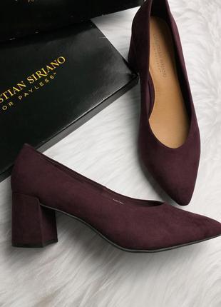 Christian siriano оригинал пурпурные туфли на широком каблуке
