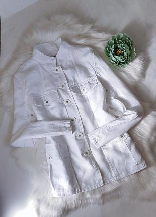 Изумительный белый пиджак из 💯% льна от new look.