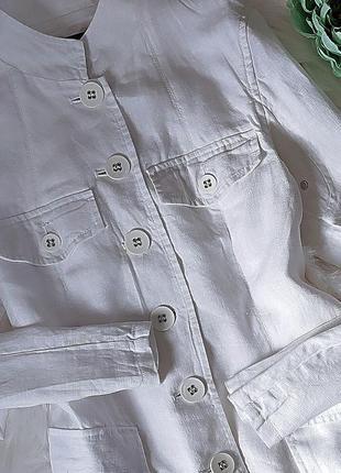 Изумительный белый пиджак из 💯% льна от new look.2 фото