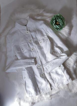 Изумительный белый пиджак из 💯% льна от new look.3 фото