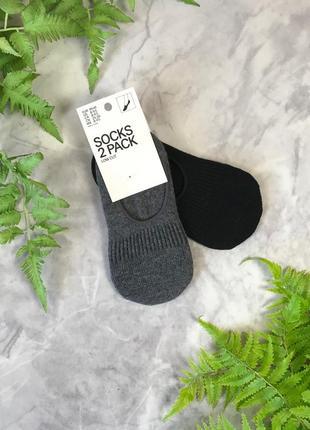Укороченные носочки в черно-сером цвете  sm1920142 h&m