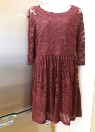 Платье next-14h цвета марсала
