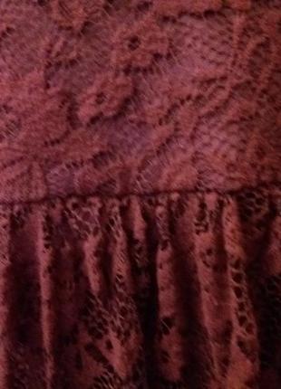Платье next-14h цвета марсала8 фото