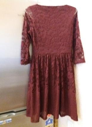 Платье next-14h цвета марсала4 фото
