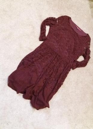Платье next-14h цвета марсала5 фото