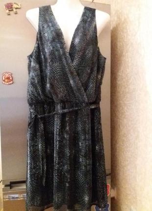 Нарядное платье на запах под поясок--drezzez-16-18-20р