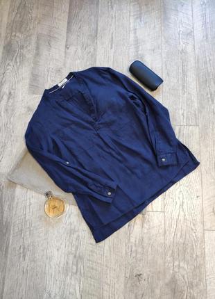 Льняная рубашка блузка лен