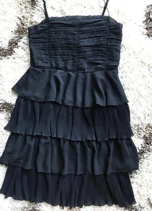Платье на тонких бретелях рюши