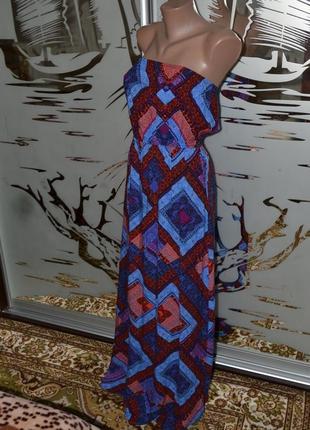 Платье сарафан в пол 100%вискоза