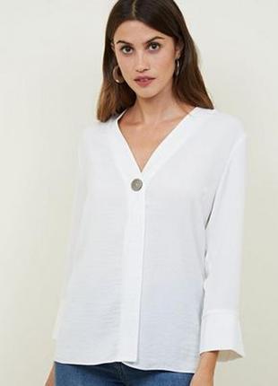 Базовая лёгкая минималистичная белая блуза new look