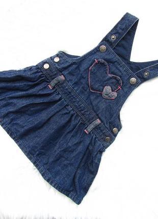 Стильный и качественный джинсовый сарафан платье in extenso