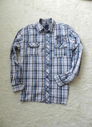 ✅ мужская рубашка из натуральной ткани  (секонд) tom tompson