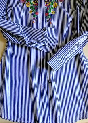 Платье с вышивкой, вышиванка, платье полоска ч3 фото