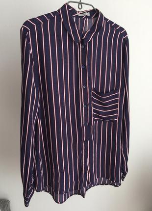 Рубашка в полоску bershka