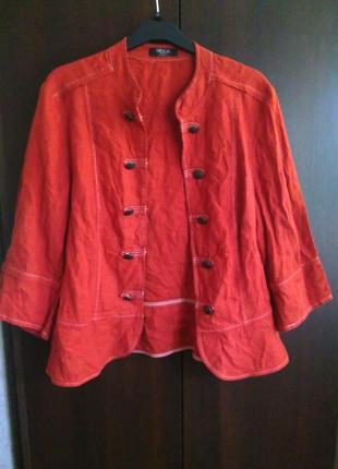 Легкий льняной пиджак-камзол