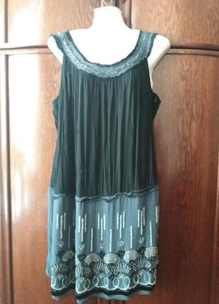 Платье -сарафан-yessica--расшитое стеклярусом и биссером--12-14р