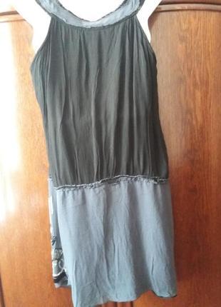 Платье -сарафан-yessica--расшитое стеклярусом и биссером--12-14р5 фото