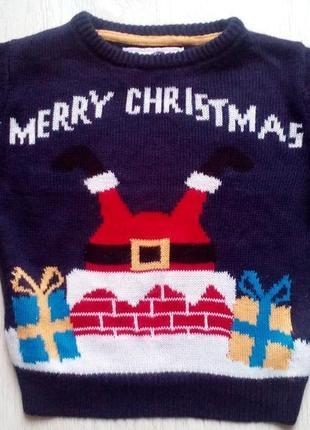 Новогодний свитер rebel 2-3 года.