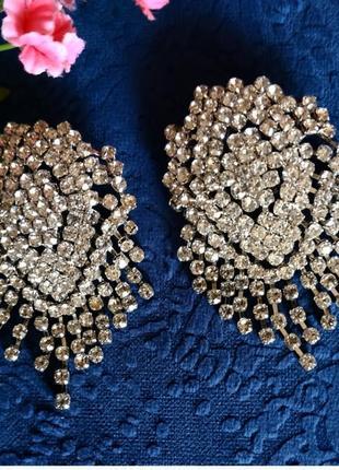 Серьги в стиле зара zara вечерние свадебные сережки3 фото