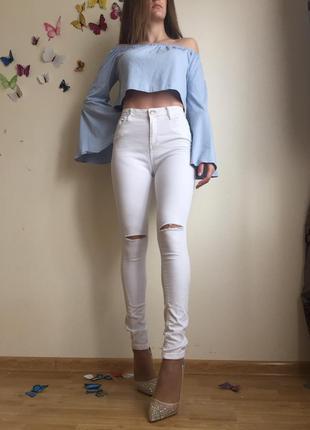 Шикарні джинси висока посадка