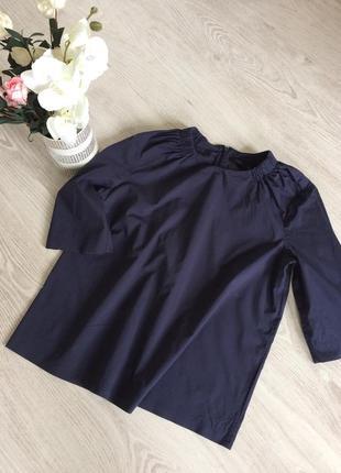 Стильна темно синя блуза вільний силует cos
