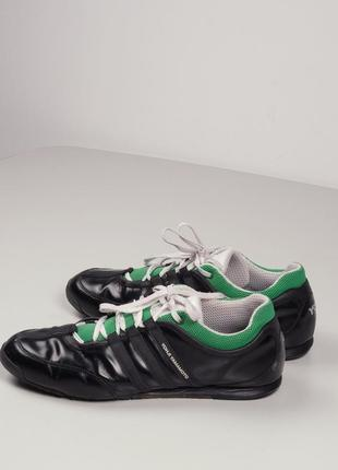 Черные кожаные кроссовки  yohji yamamoto ( y3  )