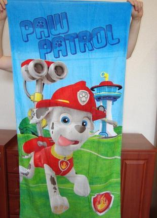 Пляжное полотенце щенячий патруль маршал