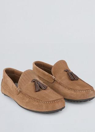 Туфли лоферы (нат. замша) мягкие англия-испания 43 и 42р
