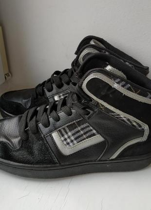 Высокие кожаные кеды кроссовки bronco 37р. 24 см.
