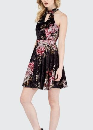 Платье велюровое для вечеринок select