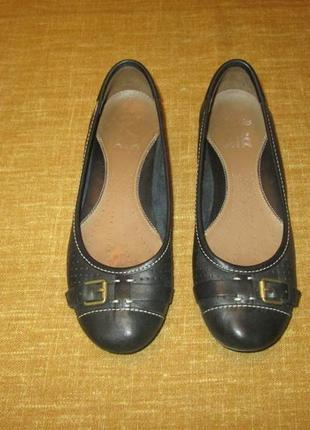 Clarks кожаные туфли балетки