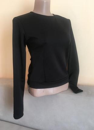 Чорна кофта свитер свитшот блузка