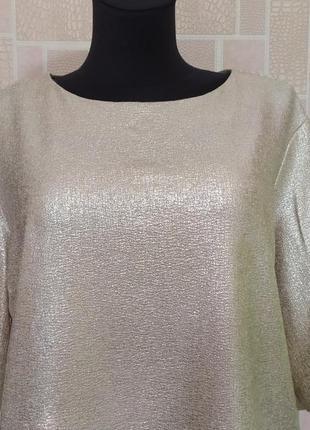 Новая блузка с золотым напылением, от бренда atmosphere.2 фото