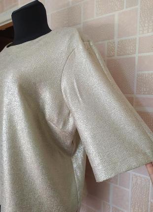 Новая блузка с золотым напылением, от бренда atmosphere.3 фото