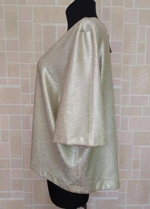 Новая блузка с золотым напылением, от бренда atmosphere.4 фото
