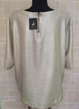 Новая блузка с золотым напылением, от бренда atmosphere.5 фото