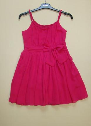 Нарядное пышное розовое шифоновое платье yd by primark 11-14 лет