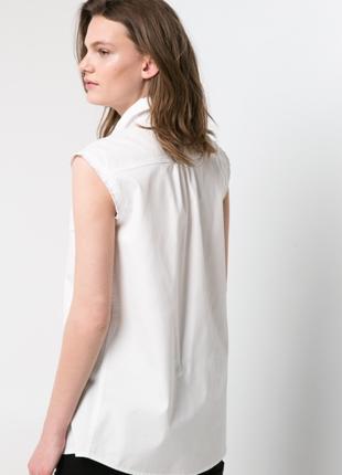 Джинсовая рубашка без рукавов mango, m, l2 фото