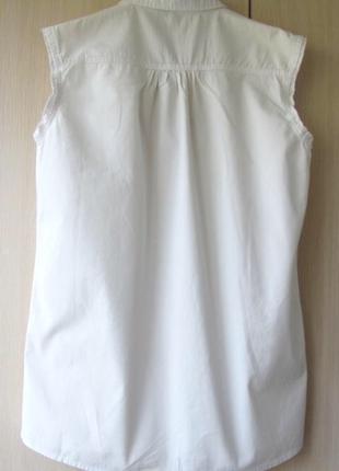Джинсовая рубашка без рукавов mango, m, l6 фото