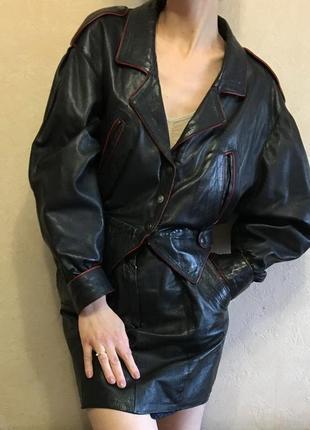 Винтажный кожаный костюм