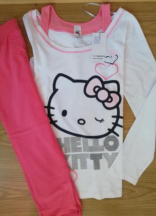 Пижама hello kitty  футболка реглан набор комплект  для сна 36