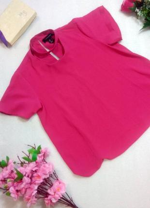 Классный малиново-розовый кроп топ блуза футболка укороченная atmosphere xs
