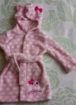 Класний халат на дівчинку 1-1,5 рочки