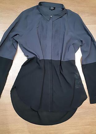 Рубашка zara с удлинённой спинкой
